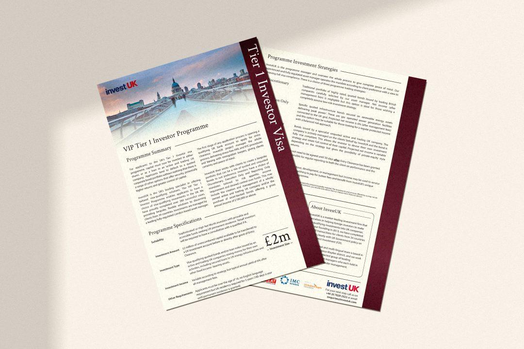 Tier 1 Investor Visa Programme